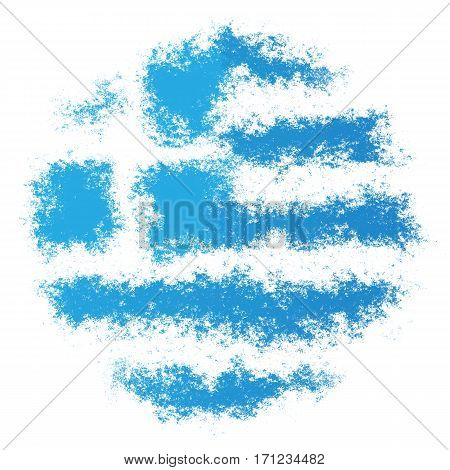 Color spray stylized flag of Greece on white background