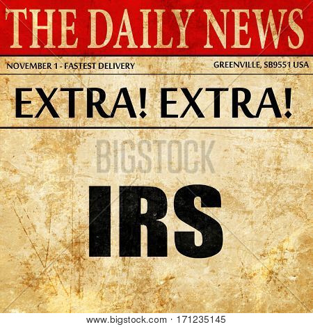 irs, article text in newspaper