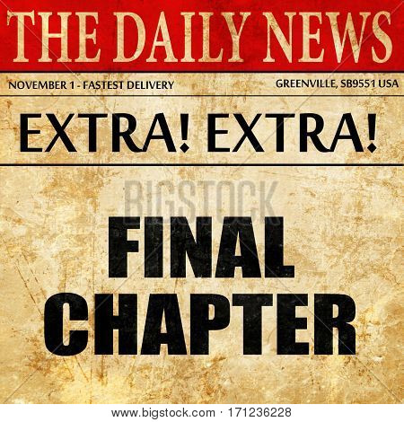 final chapter, article text in newspaper