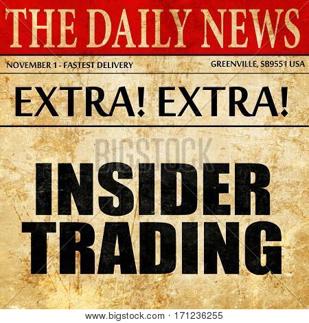 insider trading, article text in newspaper