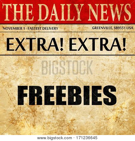 freebies, article text in newspaper
