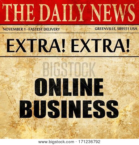 online business, article text in newspaper