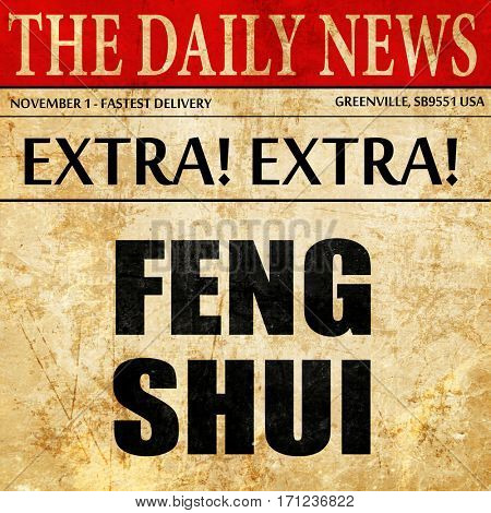 Feng shui, article text in newspaper