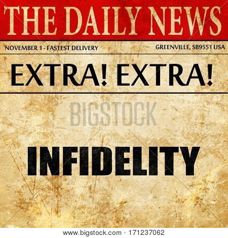 infidelity, article text in newspaper