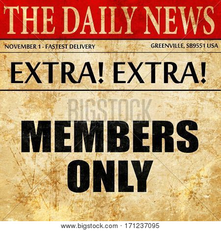 members only, article text in newspaper