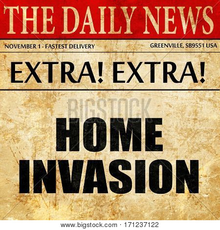 home invasion, article text in newspaper