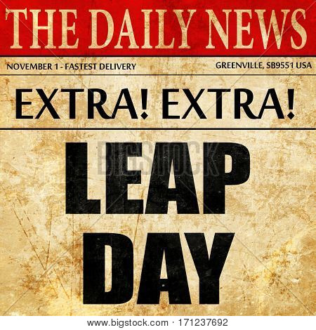 leap day, article text in newspaper