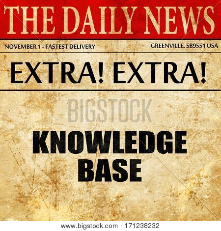 knowledge base, article text in newspaper