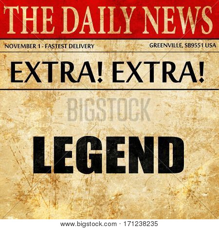 legend, article text in newspaper