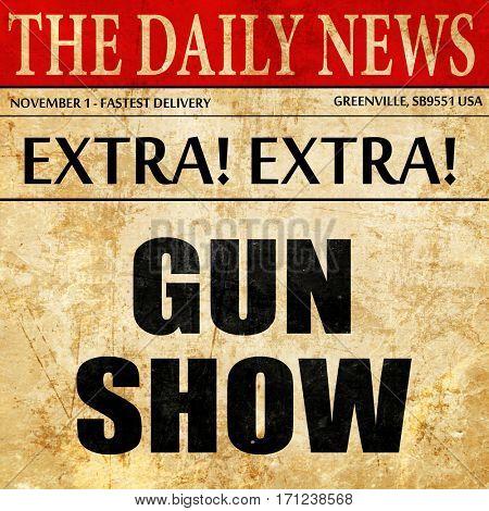 gun show, article text in newspaper