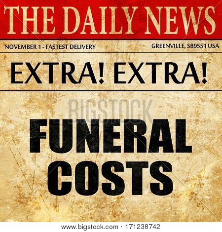 funeral costs, article text in newspaper