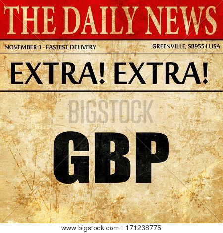 gbp, pound, article text in newspaper