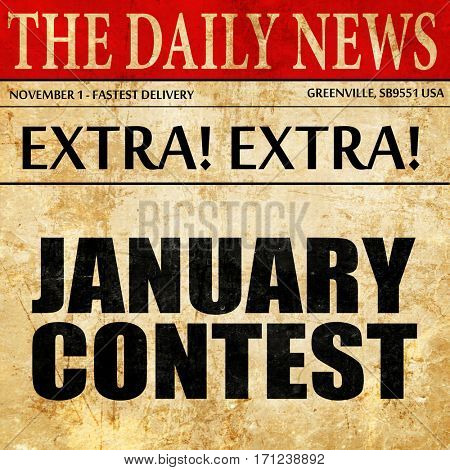 january contest, article text in newspaper