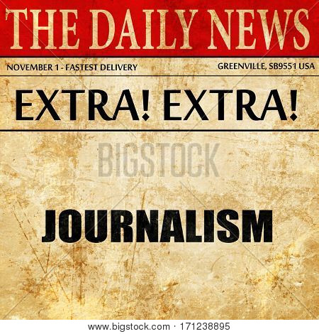 journalism, article text in newspaper