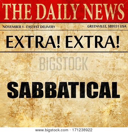 sabbatical, article text in newspaper