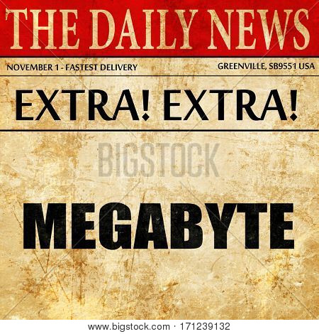 megabyte, article text in newspaper