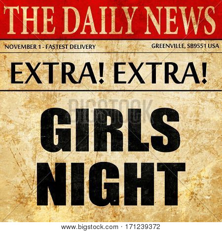 girls night, article text in newspaper