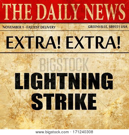 lightning strike, article text in newspaper