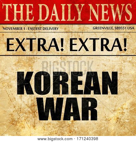 korean war, article text in newspaper