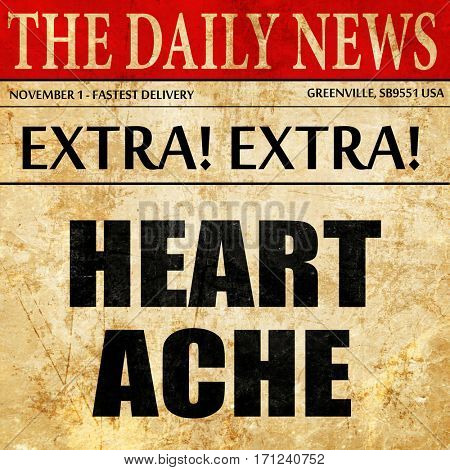 heartache, article text in newspaper