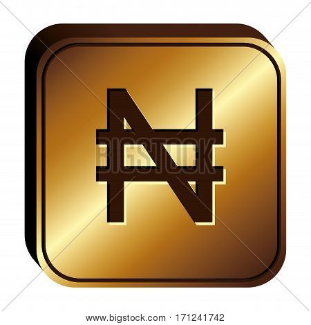 nairas currency symbol icon image, vector illustration