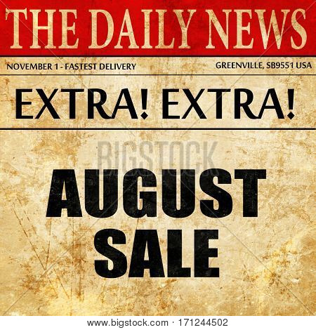 august sale, article text in newspaper