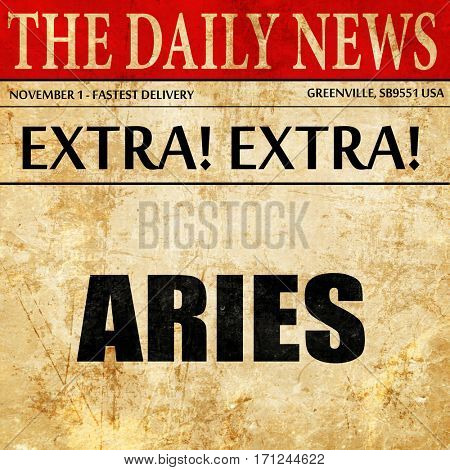 aries, article text in newspaper