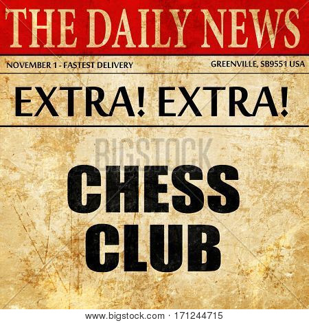 chess club, article text in newspaper