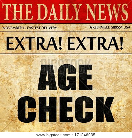 age check, article text in newspaper