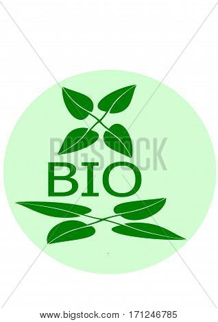 Biological business logo on a white background