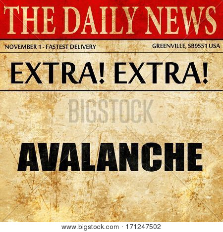 avalanche, article text in newspaper