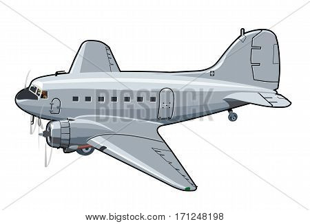 Vector Cartoon Plane. Available EPS-10 vector format separated by groups and layers for easy edit