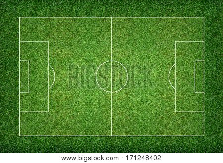 Soccer field pattern and texture for background.