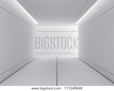 Science lab interior with bright light. 3d rendering