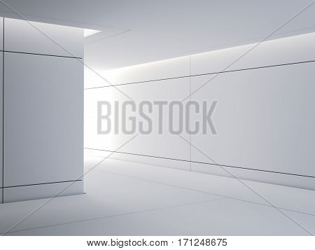 Science lab modern interior with bright light. 3d rendering