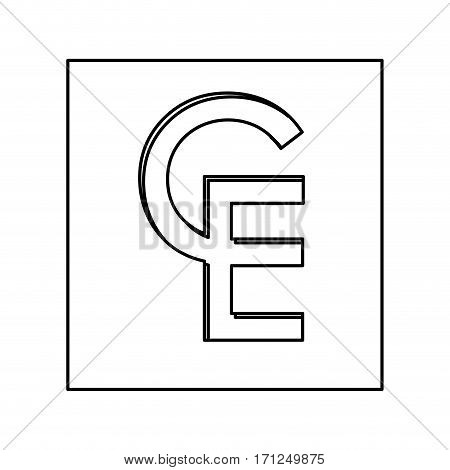 ECU currency symbol icon image, vctor illustration