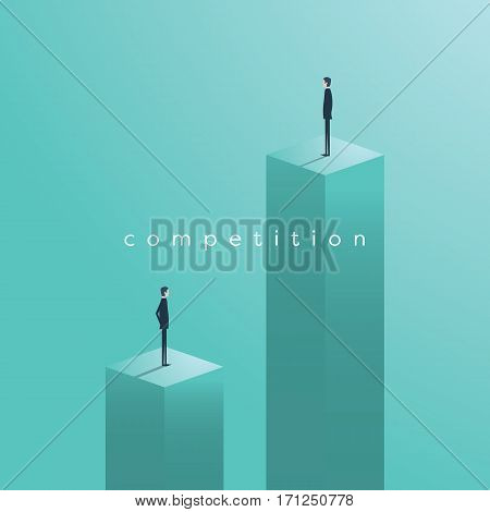 Business competition concept with businessman vector illustration. Symbol of challenge, race, success and winners. Eps10 vector illustration.