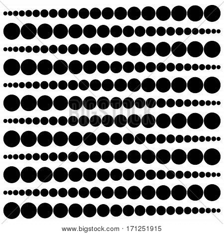 geometric pattern widening circles from a point to a circle vector pattern