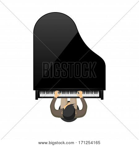 Vector illustration. Musical background. Piano key, keyboard. Melody. Instrument.