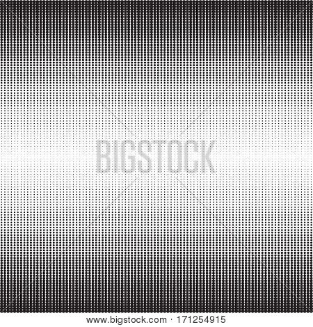 Halftone pattern with gradient effect. Vertical points. Vertically directed dots. Template for backgrounds and stylized textures. Design element with lined spots. Vector illustration in EPS8 format.