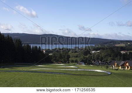 A view over rodel field in the Czech Republic.