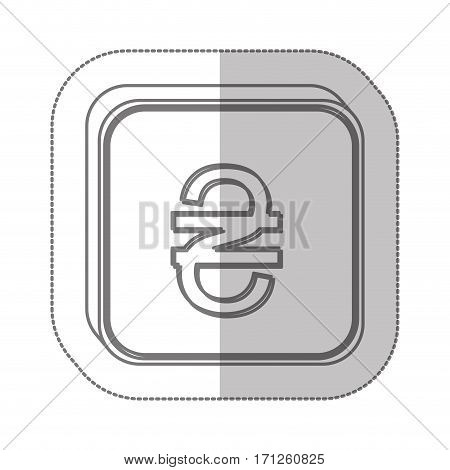hryvnia currency symbol icon image, vector illustration