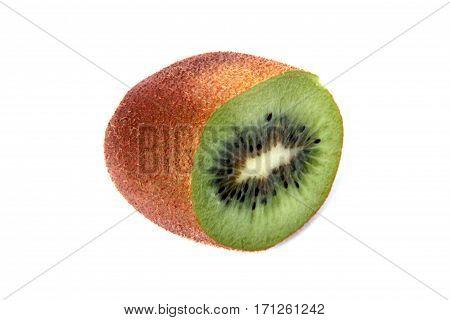 Kiwi fruit vitamin C kiwi isolated on white background.