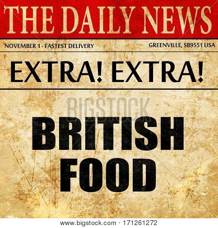 british food, article text in newspaper