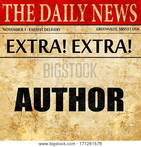 author, article text in newspaper
