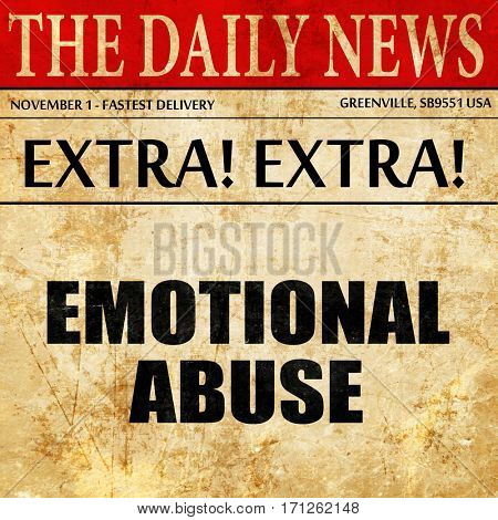 emotional abuse, article text in newspaper