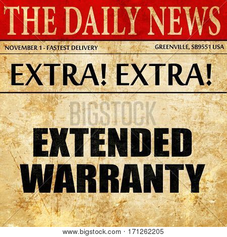 extended warranty, article text in newspaper
