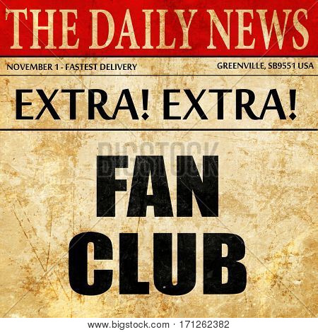fan club, article text in newspaper