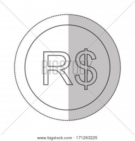 real brazil currency symbol icon image, vector illustration