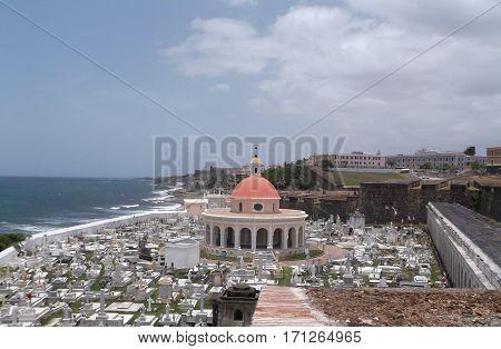 Cementerio Santa María Magdalena de Pazzi in historic Old San Juan